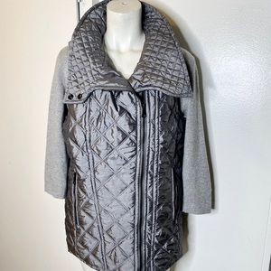 Marc New York Grey Quilted ZIP Up Vest M